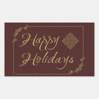 Happy Holidays Rangoli Ornamental Design Sticker
