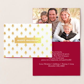 Happy Holidays. Real Foil Christmas Photo Cards