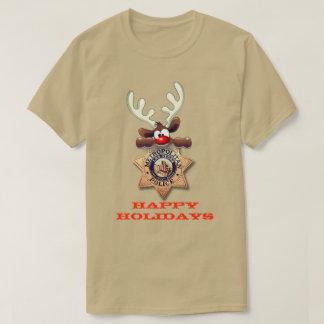 Happy Holidays Reindeer Las Vegas Metropolitan PD T-Shirt