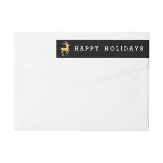 Happy Holidays Return Address Label | Christmas
