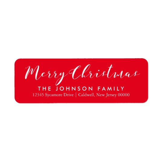 Happy Holidays Return Address Labels \ CHRISTMAS