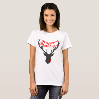 Happy Holidays: Rudolf (W) T-Shirt