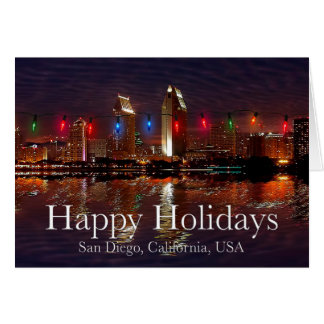 Happy Holidays San Diego, California Card