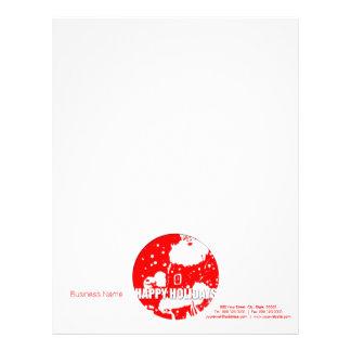 Happy Holidays - Santa Claus - Customized Letterhead