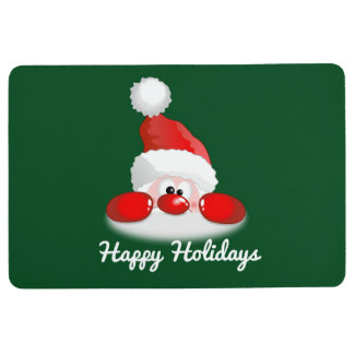 Happy Holidays Santa Floor Mat