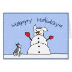 Happy Holidays Schnauzer Christmas Card