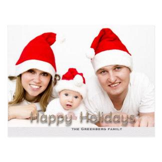 Happy Holidays Shadow Text Postcard