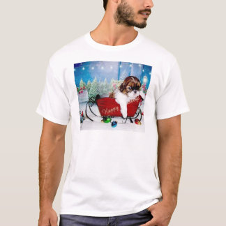 Happy Holidays Shih Tzu T-Shirt