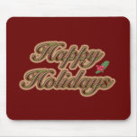 Happy Holidays Simple Text Mousepad