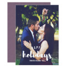Happy Holidays Sketched Personalized Photo Card