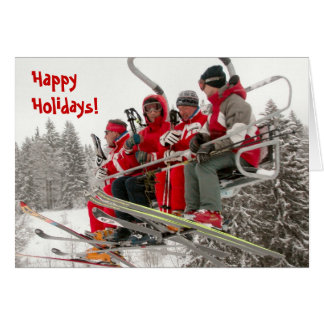 Happy Holidays, Ski life Card