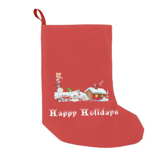 Happy Holidays Small Christmas Stocking