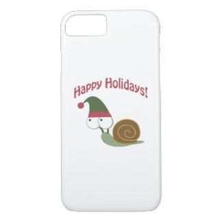 Happy Holidays! Snail Elf iPhone 7 Case
