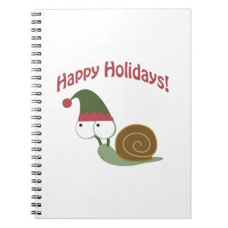 Happy Holidays! Snail Elf Notebook