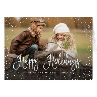 Happy Holidays Snow Card