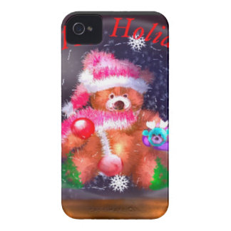 Happy Holidays Snow Globe iPhone 4 Case-Mate Case