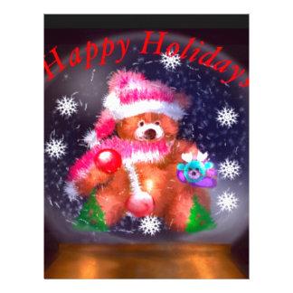 Happy Holidays Snow Globe Letterhead