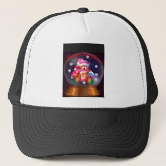 Happy Holidays Snow Globe Trucker Hat