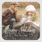 Happy Holidays Snow Photo Sticker