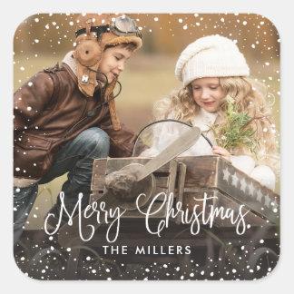 Happy Holidays Snow Photo Sticker