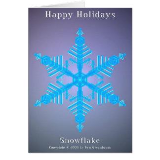 Happy Holidays Snowflake 01 Card