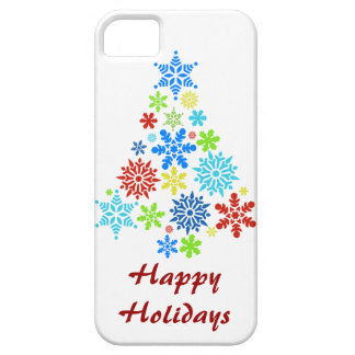 Happy Holidays Snowflake Christmas Tree iPhone 5 iPhone 5 Cases