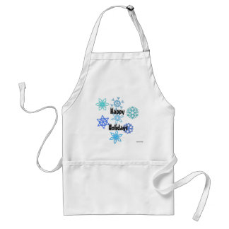 Happy Holidays Snowflake Pattern Apron