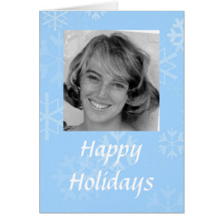 Happy Holidays Snowflake Photo Template