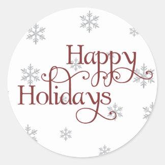 Happy Holidays Snowflake Sticker