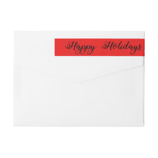 Happy Holidays Snowflake wraparound label