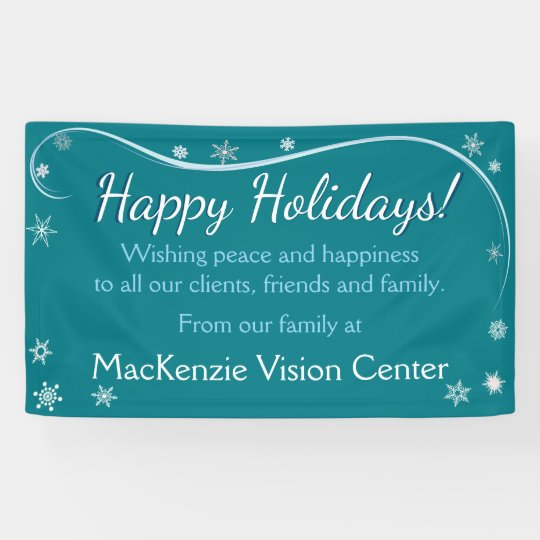 Happy Holidays Snowflakes Banner