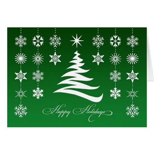 Happy Holidays Snowflakes Folded Card