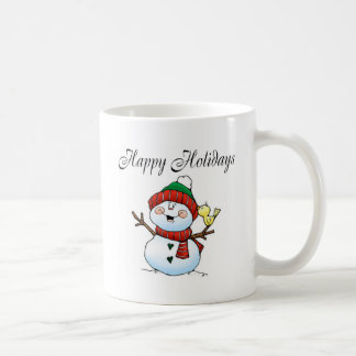 Happy Holidays (Snowman Birdy) Coffee Mug