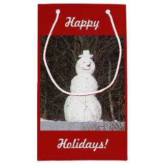 Happy Holidays Snowman Gift Bag
