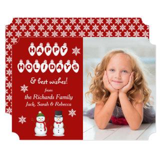 Happy Holidays Snowman Photo Template Christmas