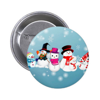 Happy Holidays Snowmen 2 Inch Round Button