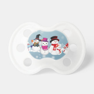 Happy Holidays Snowmen Baby Pacifiers