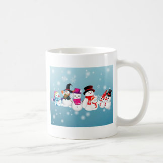 Happy Holidays Snowmen Coffee Mug