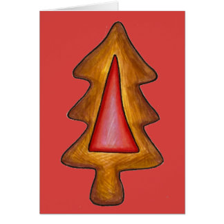 Happy Holidays Stained Glass Christmas Tree Cookie Card