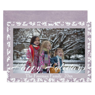 """Happy Holidays"" Stylish Typography Photo Insert Card"
