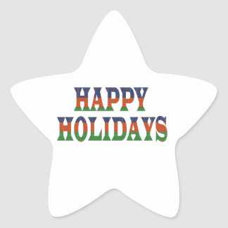 HAPPY HOLIDAYS TEXT; HappyHOLIDAYS lowprice GIFTS Star Sticker