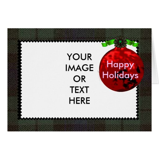 Happy Holidays The MUSEUM Zazzle Gifts Template 1a Greeting Card