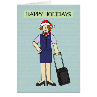 Happy Holidays to or from Cabin Crew Card