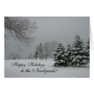 Happy Holidays to the Newlyweds! Card