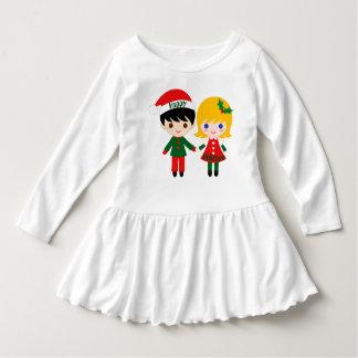 Happy Holidays Toddler Ruffle Dress