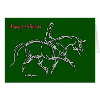 Happy Holidays Trotting Green card