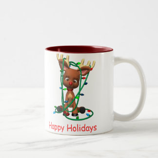 Happy Holidays Two-Tone Coffee Mug