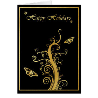 Happy Holidays - Vine & Butterfly Card