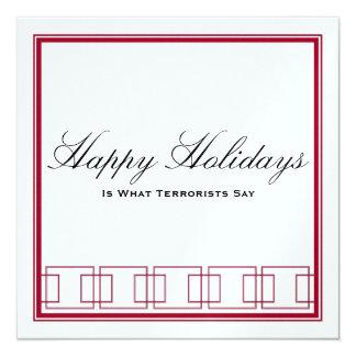 Happy Holidays vs. Merry Christmas Card