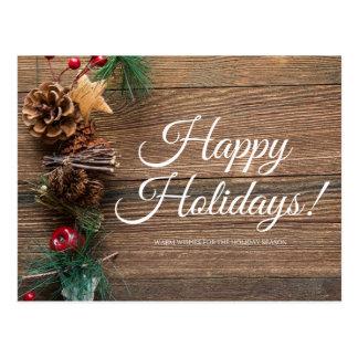 Happy Holidays, Warm Wishes Postcard